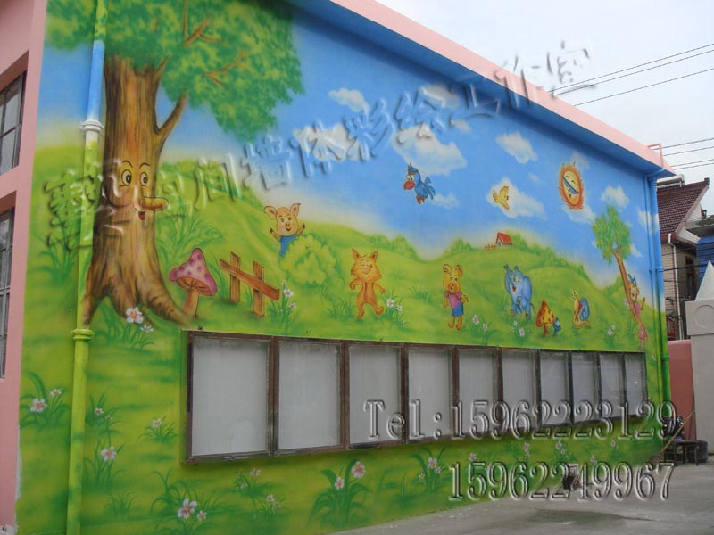 上海幼儿园喷绘