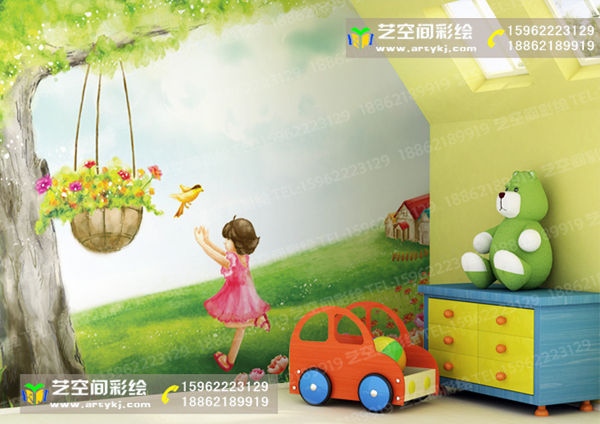 供应产品 儿童房,玄关手绘 苏州园区儿童房彩绘  产品名称:宁波苏州
